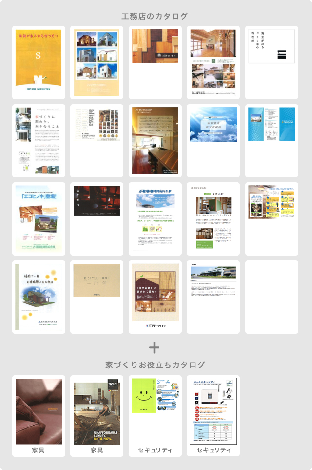 工務店のカタログ+家づくりお役立ちカタログ